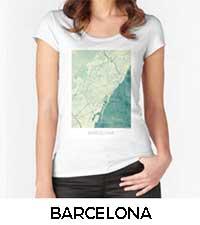 Barcelona Map City Art Posters
