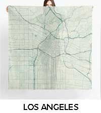 Los Angeles Map City Art Posters