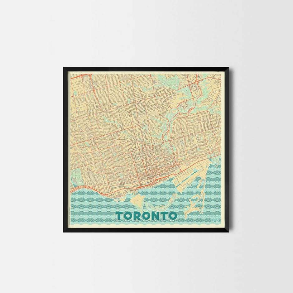 Toronto gift - Map Art Prints and Posters, Home Decor Gifts