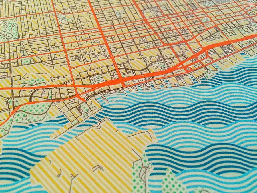 Toronto retro posters artprints city map design