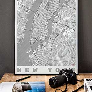 city art posters map posters and art prints design your own town map
