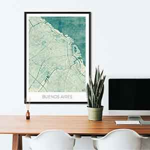 Buenos Aires gift map art gifts posters cool prints neighborhood gift ideas