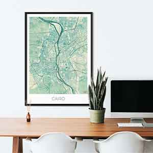 Cairo gift map art gifts posters cool prints neighborhood gift ideas