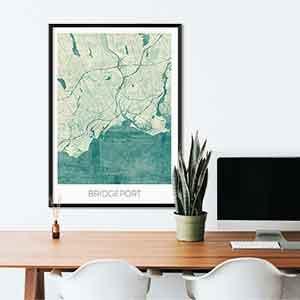 Bridgeport gift map art gifts posters cool prints neighborhood gift ideas