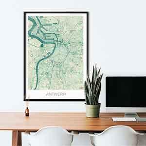 Antwerp gift map art gifts posters cool prints neighborhood gift ideas