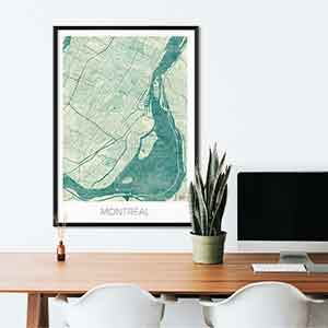 Montreal gift map art gifts posters cool prints neighborhood gift ideas
