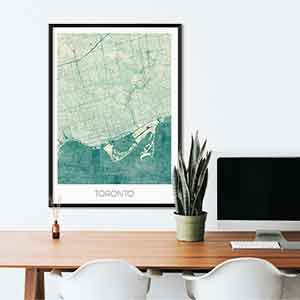 Toronto gift map art gifts posters cool prints neighborhood gift ideas