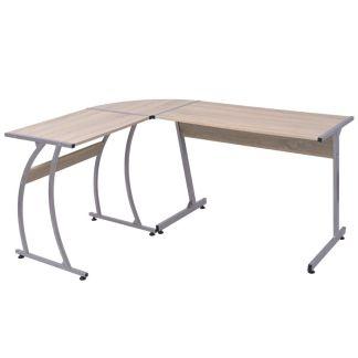 vidaXL Kampinis rašomasis stalas, L formos, ąžuolas