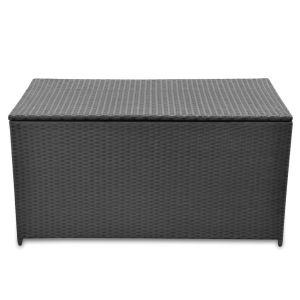 Sodo daiktadėžė, juoda, 120x50x60cm, poliratanas