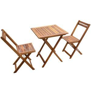 vidaXL Bistro baldų kompl., 3d., akacijos medienos masyvas