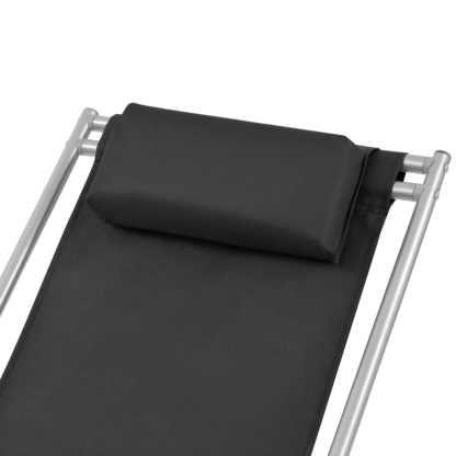 Atlošiami gultai, 2 vnt., plienas, juodos spalvos