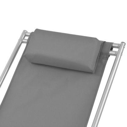 Atlošiami gultai, 2 vnt., plienas, pilkos spalvos