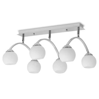vidaXL Lubų šviestuvas su 6 G9 lemputėmis, 240 W