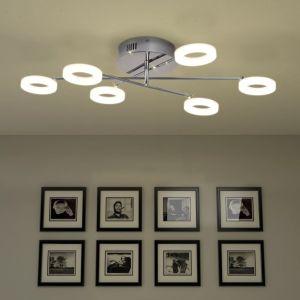 LED lubų šviestuvas su 6 lemputėmis, šilta balta