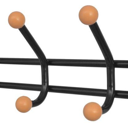 Drabužių kabykla su lentynomis batams, 68x32x182,5 cm juoda