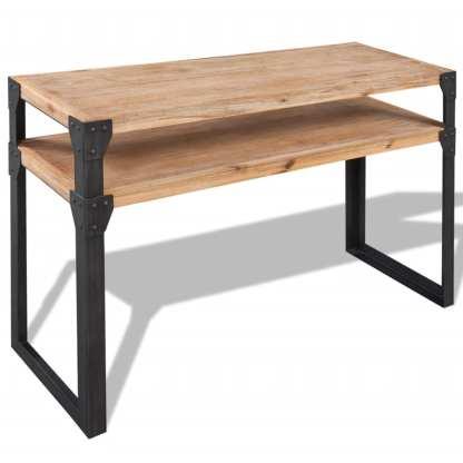 vidaXL Konsolinis staliukas, tvirta akacijos mediena, 120x40x85 cm