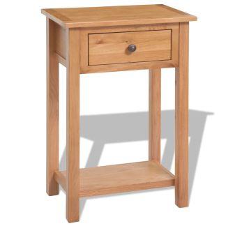 vidaXL Konsolinis staliukas, 50x32x75cm, ąžuolo medienos masyvas