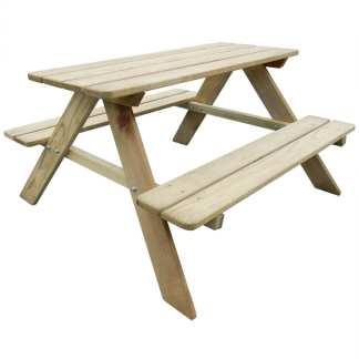 vidaXL Vaikiškas iškylų stalas, 89×89,6×50,8 cm, FSC pušies mediena