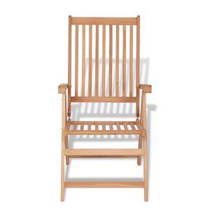 Atlošiama sodo kėdė, tikmedžio mediena