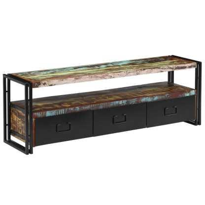 vidaXL TV spintelė, masyvi perdirbta mediena, 120x30x40cm