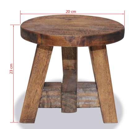 Taburetė, masyvi perdirbta mediena, 20x20x23cm