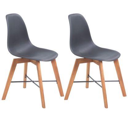 vidaXL Valgomojo kėdės, 2vnt., juodos