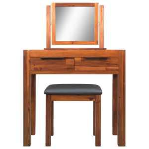 Kosmetinis staliukas su kėdute ir veidrodžiu, akacij. med. mas.