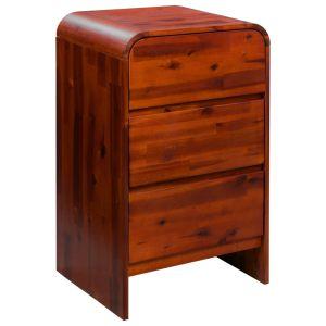 vidaXL Komoda su stalčiais, akacijos medienos masyvas, 45x37x75cm