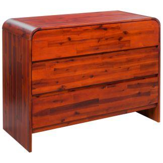 vidaXL Komoda su stalčiais, akacijos medienos masyvas, 90x37x75cm