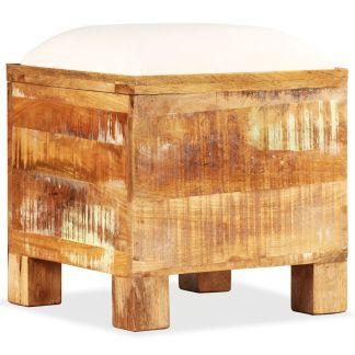 vidaXL Suolas-daiktadėže, perdirbta mediena, 40x40x45cm