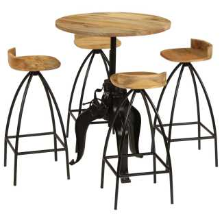 vidaXL Baro baldų komplektas, 5d., mango medienos masyvas