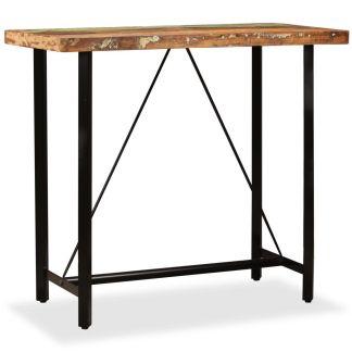 vidaXL Baro stalas, perdirbta mediena, 120x60x107cm