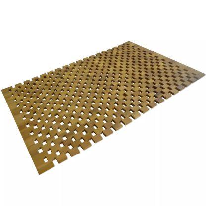 vidaXL Vonios kilimėlis, akacijos mediena, 80 x 50 cm, mozaika