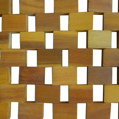 Vonios kilimėlis, akacijos mediena, 80 x 50 cm, mozaika