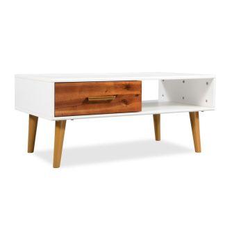 vidaXL Kavos staliukas, masyvi akacijos mediena, 90x50x40cm