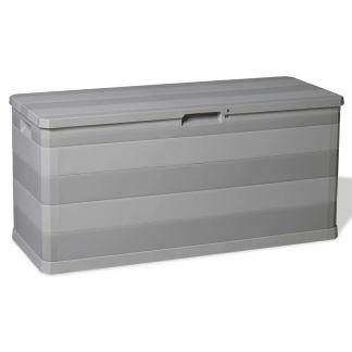 vidaXL Sodo daiktadėžė, pilka, 117x45x56 cm