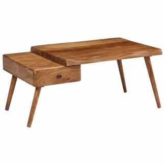 vidaXL Kavos staliukas, 100x60x45cm, akacijos medienos masyvas