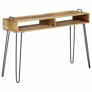 vidaXL Konsolinis staliukas, mango medienos masyvas, 115x35x76cm