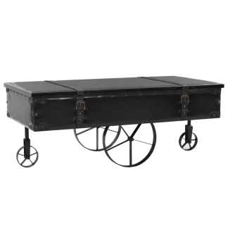 vidaXL Kavos staliukas, MDF ir eglės mediena, 110x55x43 cm