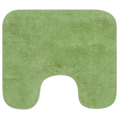 Vonios kilimėlių rinkinys, 3d., žalias, audinys