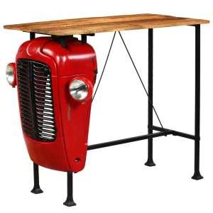 vidaXL Baro stalas su traktor. priek., mango med., raud., 60x120x107cm
