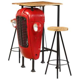 vidaXL Baro baldų komplektas, 3d., mango medienos masyvas, 60x60x107cm