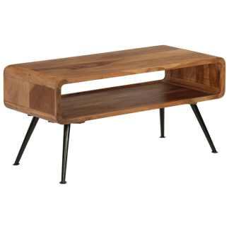 vidaXL Kavos staliukas, rausvosios dalbergijos med., 95x40x45cm