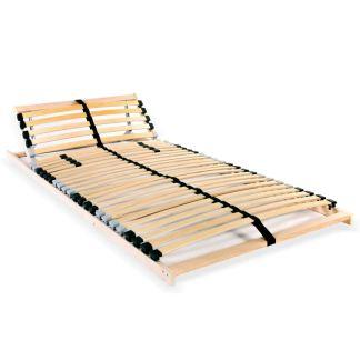 vidaXL Grotelės lovai su 28 lentjuostėmis, 7 zonos, 90x200cm, FSC