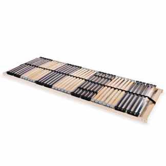 vidaXL Grotelės lovai su 42 lentjuostėmis, 7 zonos, 80x200cm, FSC