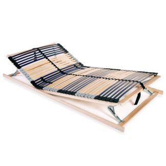 vidaXL Grotelės lovai su 42 lentjuostėmis, 7 zonos, 100x200cm, FSC