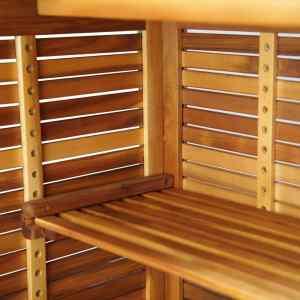 Baro stalas, akacijos medienos masyvas, 110x50x105cm