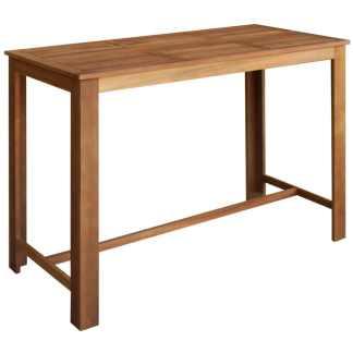 vidaXL Baro stalas, masyvi akacijos mediena, 150x70x105cm
