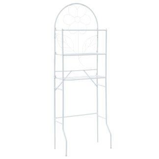 vidaXL Vonios kambario lentyna, balta, 60x33x174 cm