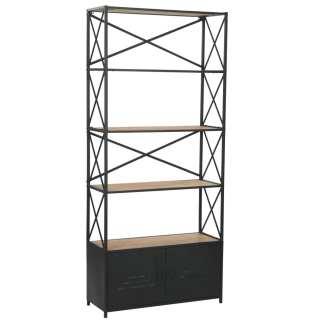 vidaXL Knygų lentyna, eglės mediena ir plienas, 80×32,5x180cm